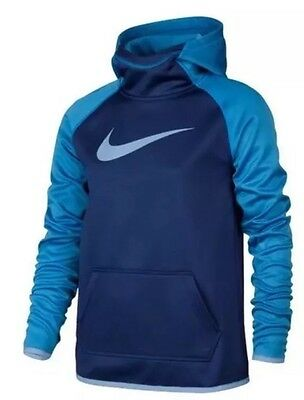 New Girl's Nike Dri-Fit Therma Hoodie Pullover 806016 455 Medium NWT