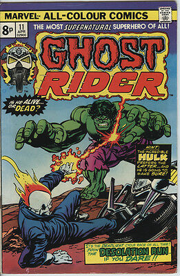 Ghost Rider (vol 1) Issue 11 From 1975 Scarce Vs The Hulk