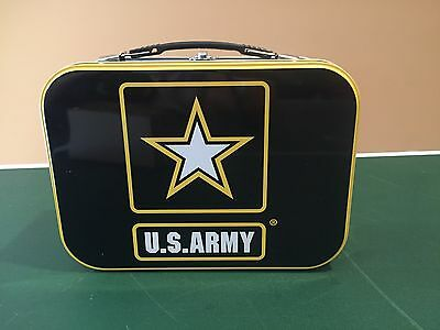 "U.S. Army 10"" Lunch Box Tin Tote Military Collectible NEW"