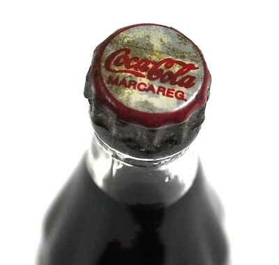 Coca-Cola Coke mini Bottle 8 cm Miniatur Glas Flasche 1970er Marokko Logo