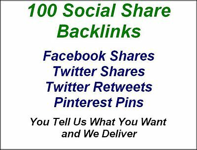 100 Social Share Backlinks for SEO from PR 9 and PR 10 Websites