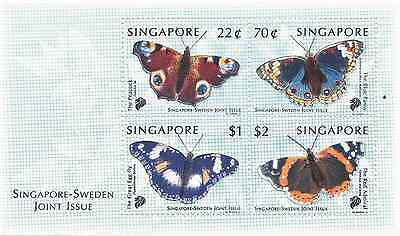 SINGAPORE - 1999 - Miniature Sheet: Singapore-Sweden Joint Issue. Mint NH