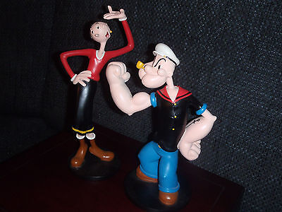 Extremely Rare! Popeye and Olive Classic Figurines Statues Set