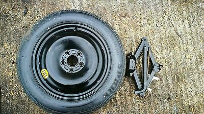 """Ford C Max 2010-2018 Space Saver 16"""" Spare Wheel & Tyre, Jack And Spanner Kit"""