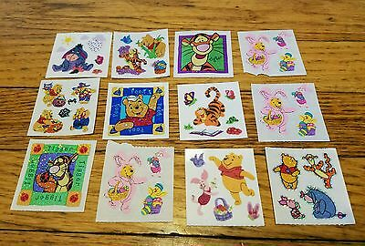 12 sheets Disney Pooh sandylion  Stickers Pooh Tigger Roo Eeyore crafting