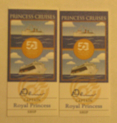 Princess Cruises ~ 2 Passport Stamps ~ 50th Anniversary ~ Royal Princess