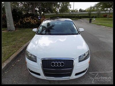 2007 Audi A3 Base Hatchback 4-Door 07 AUDI A3 OPEN SKY PACKAGE PANORAMIC SUNROOF AUDI CONCERT CLEAN CARFAX FL
