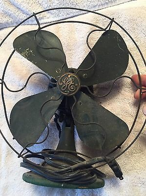Antique G.E Desktop 4-Blade General Electric Collectible Working Fan!