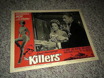 THE KILLERS 1964 Lobby Card Movie Poster Film Noir Gangster Ronald Reagan #5
