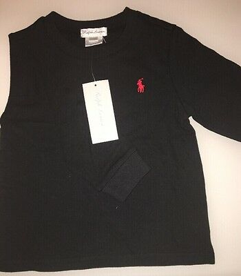 Ralph Lauren Long Sleeve T-shirt Blue/ White/ Black Size 18 Months