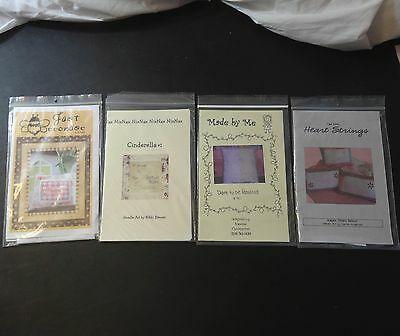Lot of 4 Embroidery Needlepoint Princess Cinderella Fabulous Punch needle design