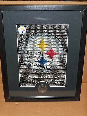 Highland Mint, Jerome Bettis - Pgh Steelers, Signed & Framed, 6 Times Champs