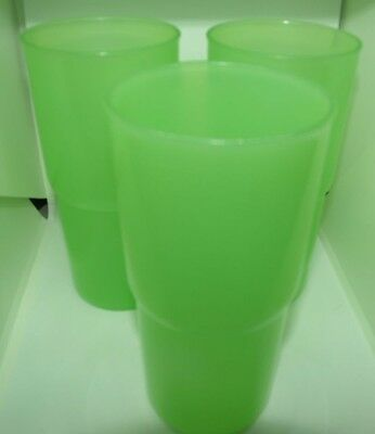 Vintage Tupperware Pastel Stackable Tumbler Cups Pastel Green