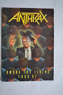 Anthrax Among The Living 1987 Tour Programme