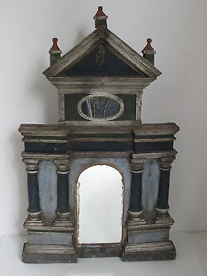 Antique Folk Art Architectural  Style Mexican Nicho