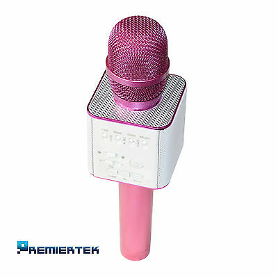 Q9 Wireless Karaoke Microphone KTV Bluetooth iPhone/Samsung iOS Android Pink