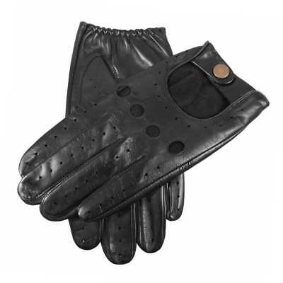 Dents Silverstone Men's Leather Touchscreen Driving Gloves BLACK