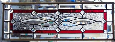 Stained Glass window hanging 28 1/4 X 9 3/4""