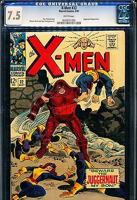 X-MEN #32 CGC 7.5 Juggernaut app! White Pages!