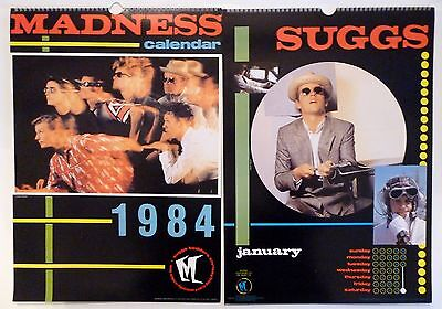 Madness Large 1984 Official Calendar