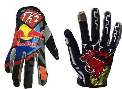 Grey KTM RedBull Monster Cycling Gloves Motorcycle Motocross Bike, KTM FOX TLD