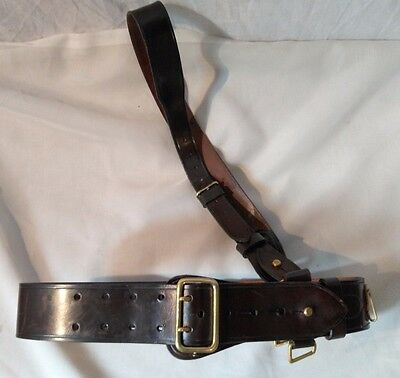 "British Army Issue, Sam Brown Belt Small Waist Size Will Fit Up To 30""  Waist"