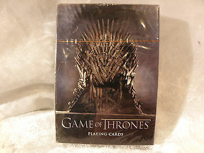 Game Of Thrones  Playing Cards You Win Or You Die Unopened Sealed Deck Very Rare