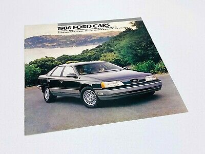 1986 Ford Taurus Thunderbird Tempo Escort Mustang LTD Crown Victoria Brochure