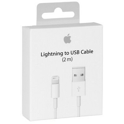 6Ft/2M Original Apple Lightning USB Charger Long Cable For Iphone 7 6 6S 5S Ipad