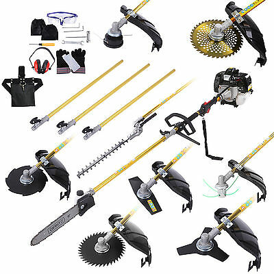 Pole Chainsaw Hedge Trimmer Whipper Snipper Pruner Petrol 65cc Brushcutter Kit