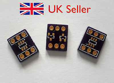 3 X SMD / SMT SOT-23 Breakout / Adapter Board, Double Sided with Headers