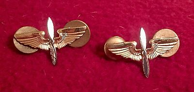 WWII Army Air Corps Air Forces Officer Wings (w/ Propellers) Set: Collectible