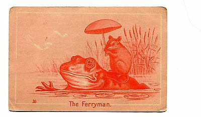 Victorian Trade Card CARACCAS HERB TONIC remedy kidney liver cure The Ferryman