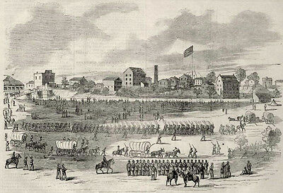 Shelbyville Tennessee TN only Union Town in Tennessee 1862 Antique Print
