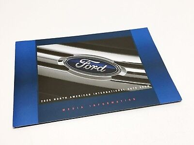 2005 Detroit Auto Show NAIAS Ford Fusion Mustang Shelby GR-1 Press Kit Brochure