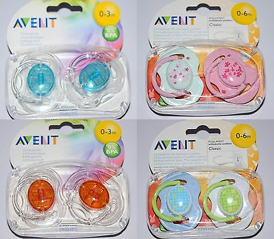 PHILIPS AVENT ORTHODONTIC BABY SOOTHER DUMMY BPA FREE 0-3m 0-6m
