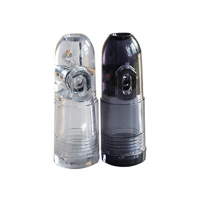 Excellent Snuff Bottle Ultimate Bullet Acrylic Clear with Clear Bottoms BDAU