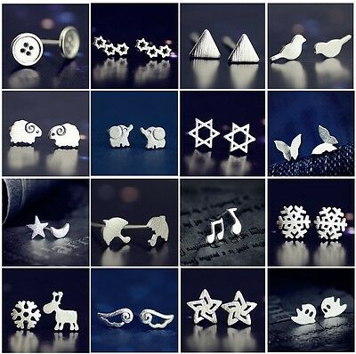 New Fashion Women 925 Sterling Silver Earrings Ear stud Cute Jewelry Gift's