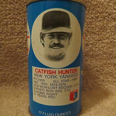 Royal Crown Cola  Can with Catfish Hunter New York Yankees - Empty Can