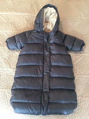J.Crew Baby 0-3 Months Bunting Bag Gray Down Filled Winter Snowsuit