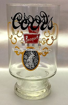 Coors Banquet Beer Glass Vintage 1980's Large 32oz Size Logo Double-Sided