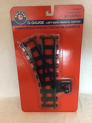 Lionel G Gauge Left Hand Manual Switch Track 7-11111 Brand New