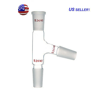 24/40,Three way Glass adapter,75 degree bent,distillation head from US