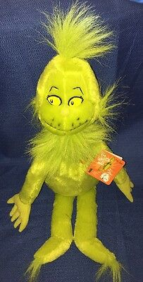 """Dr Seuss Kohls How The Grinch Stole Christmas 20"""" Plush Toy With Heart & Tag NEW"""