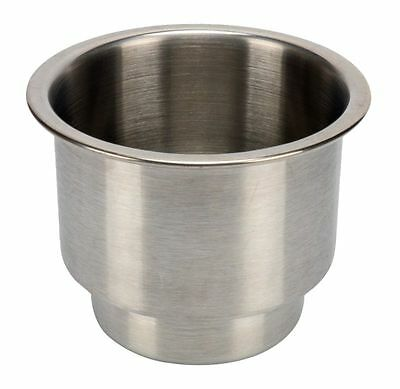 Stainless Steel Cup Drink Holder with Drain Marine Boat Rv Camper-AM