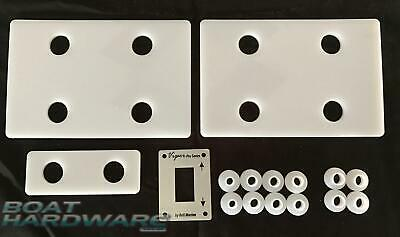 Aluminium Boat Electrolysis Fitment Plate KIT Protects Viper Micro Anchor Winch