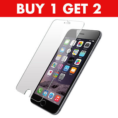 100% Genuine Tempered Glass Screen Protector Film For Apple iPhone 7 PLUS - NEW