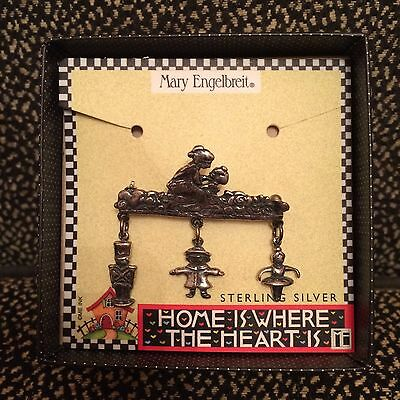 Mary Engelbreit Sterling Silver Toy Charms Pin - Home Is Where The Heart Is -NIB