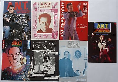 Adam Ant / the Ants Pack Of 7 A.N.T. issues 4,6,7,9,10,11 and 22