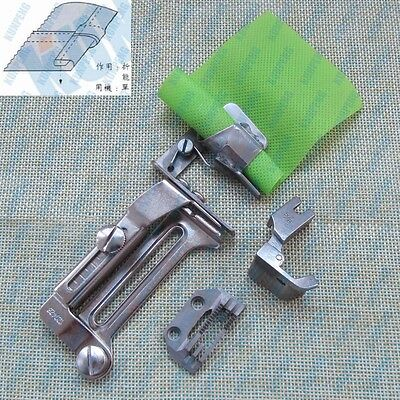 Industrial Sewing Machine Clean Finish Shirt Tail Hemmer Set Hemming Attachment